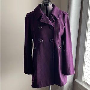 Xxi forever 21 purple pea coat